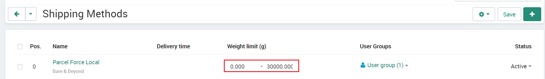 Parcelforce Local Weight Limit